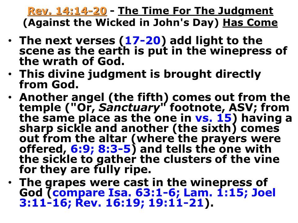 This divine judgment is brought directly from God.