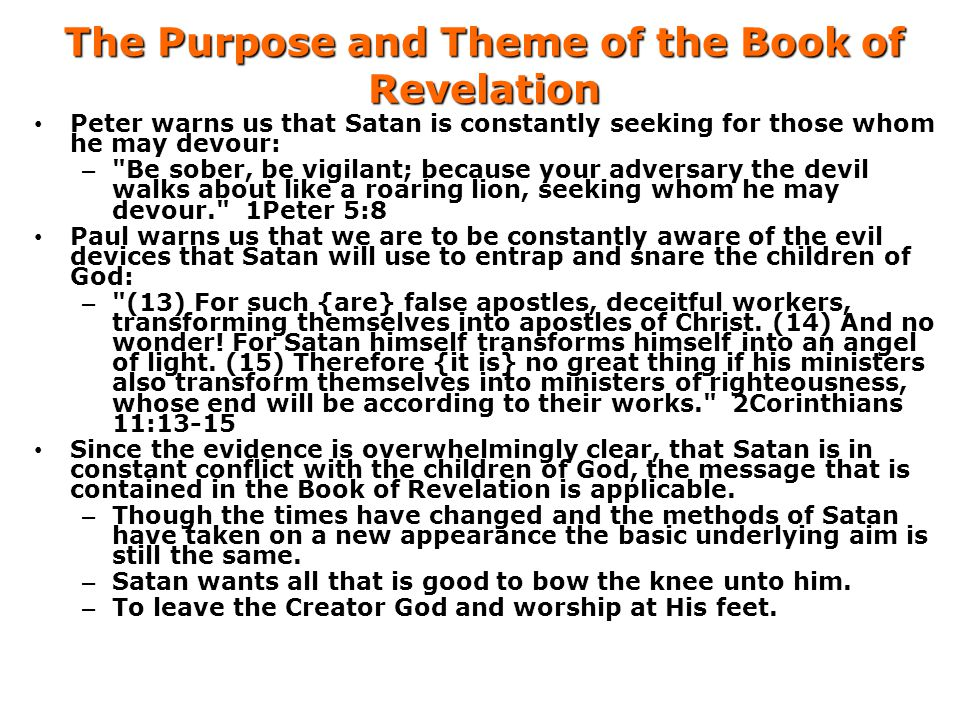 The Purpose and Theme of the Book of Revelation
