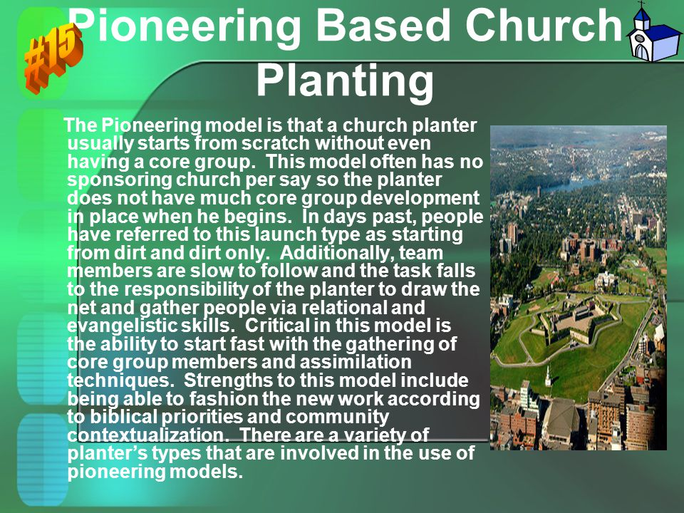 Pioneering Based Church Planting