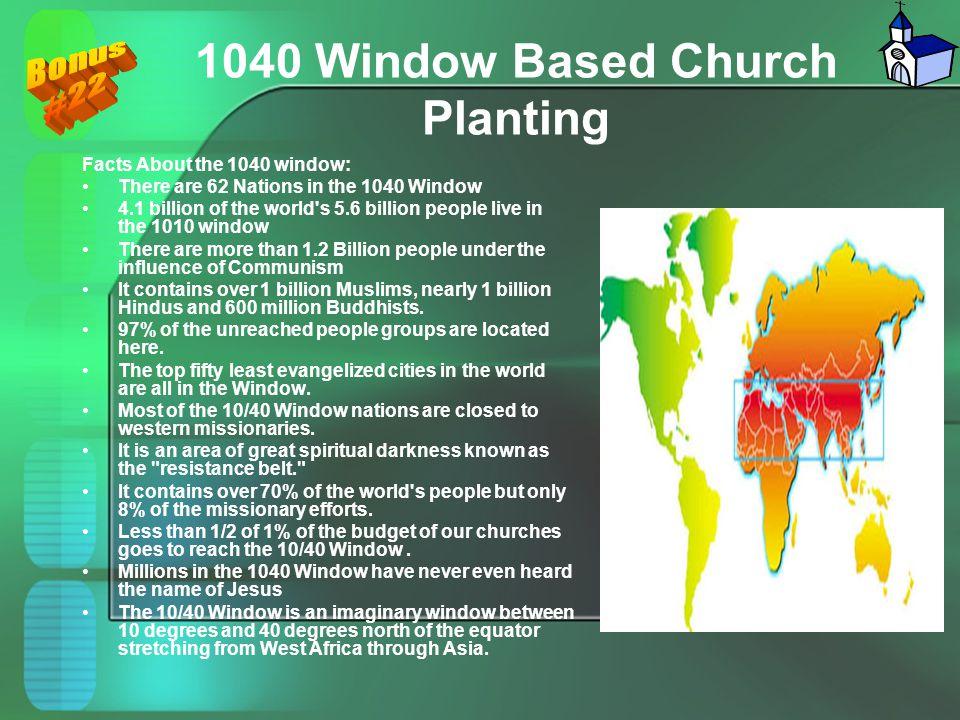 1040 Window Based Church Planting