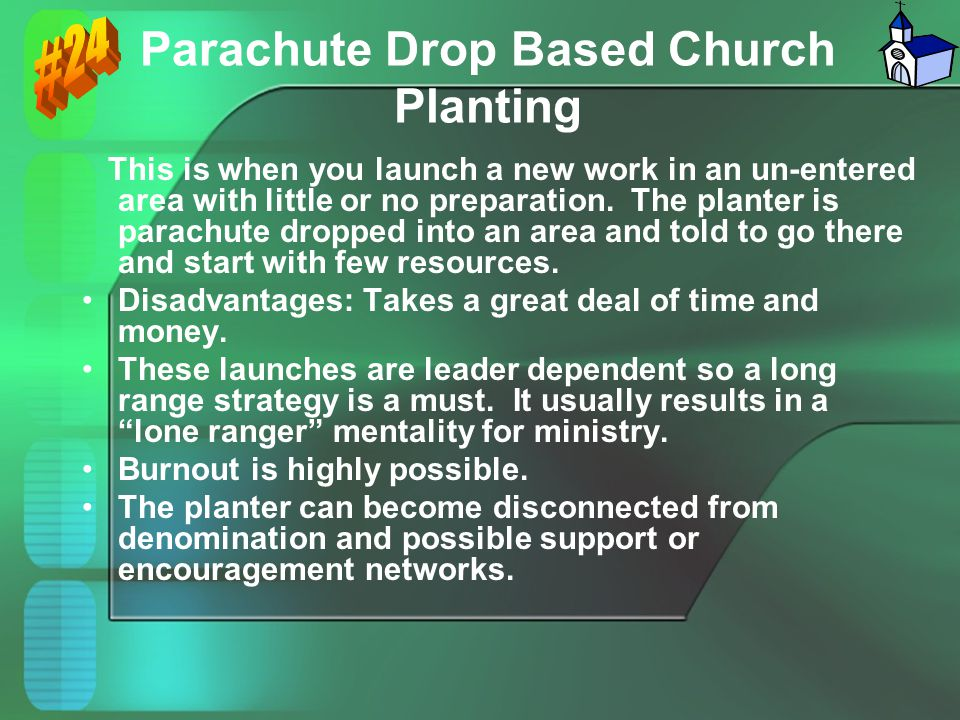 Parachute Drop Based Church Planting
