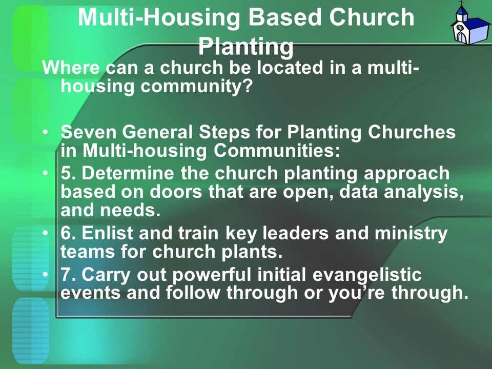 Multi-Housing Based Church Planting