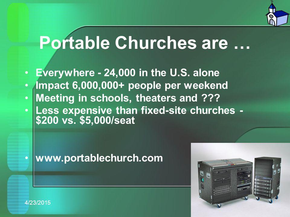Portable Churches are …