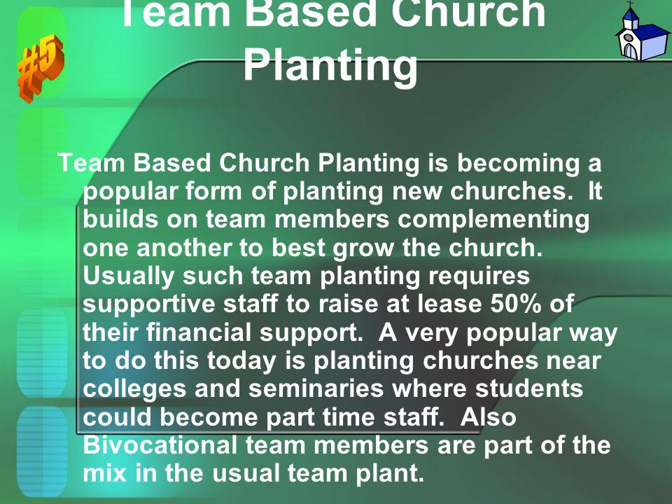 Team Based Church Planting