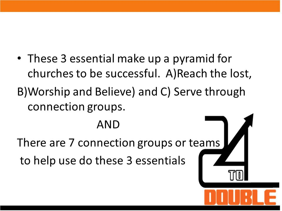 These 3 essential make up a pyramid for churches to be successful