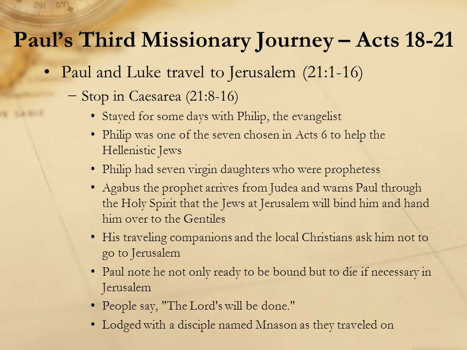 Paul's Third Missionary Journey – Acts 18-21