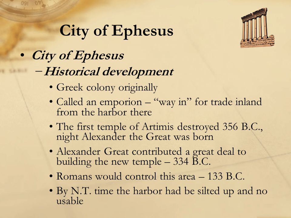 City of Ephesus City of Ephesus Historical development