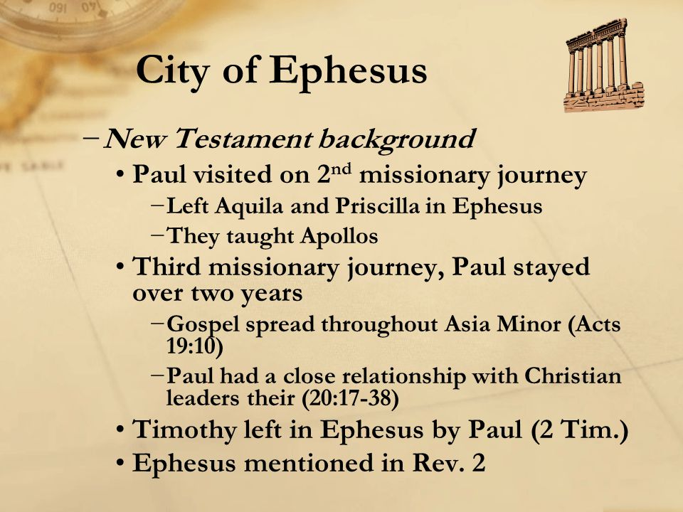 City of Ephesus New Testament background