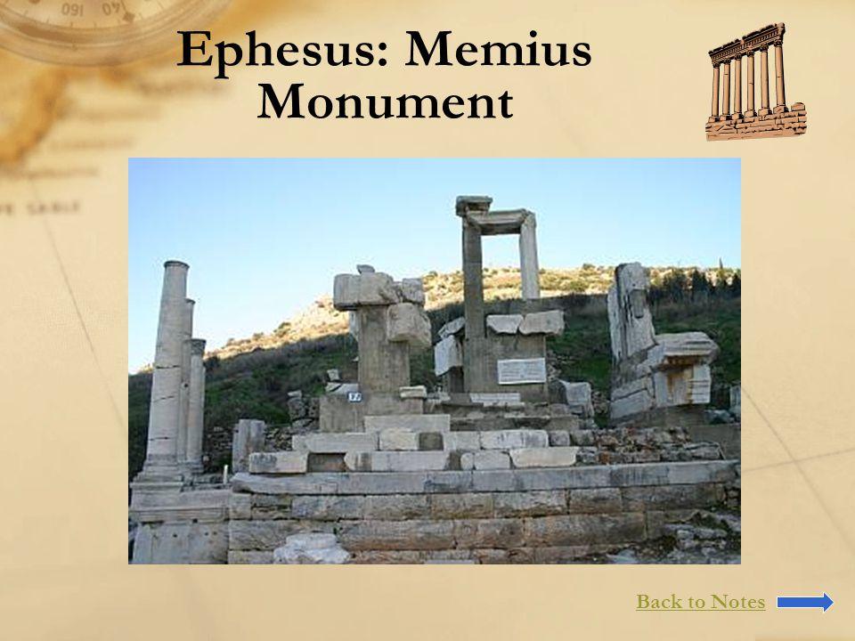 Ephesus: Memius Monument