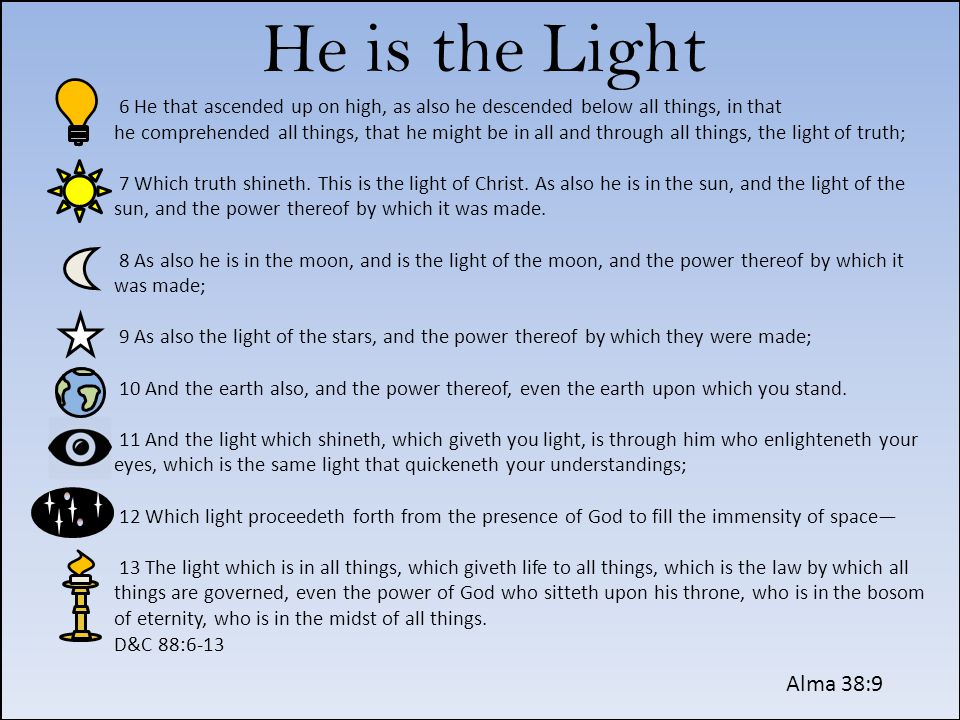He is the Light
