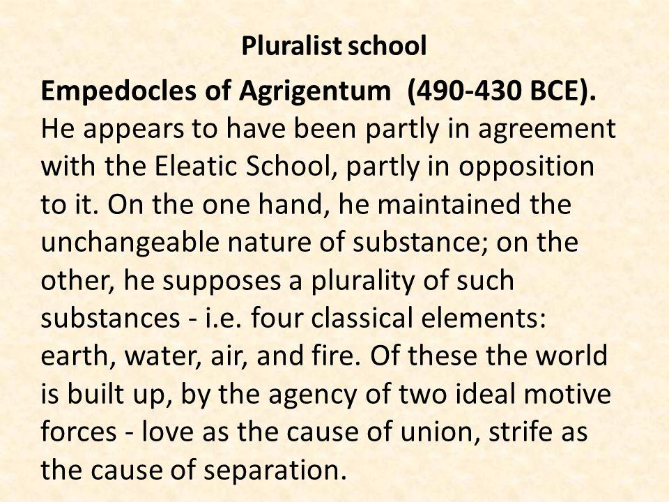 Pluralist school