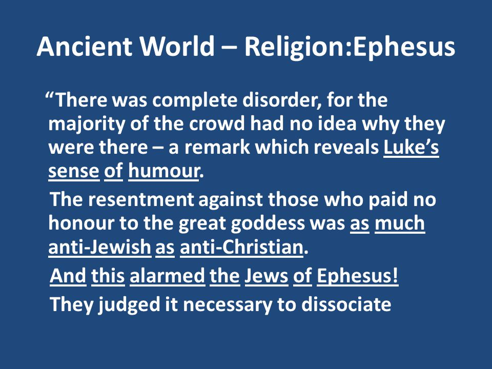 Ancient World – Religion:Ephesus