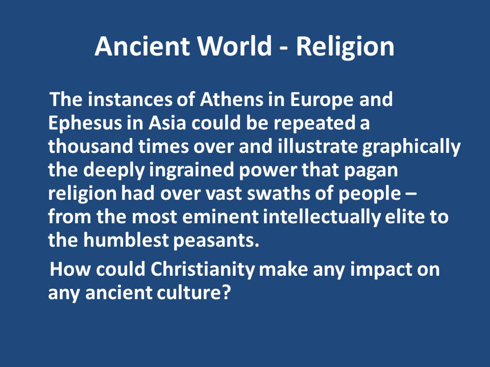 Ancient World - Religion