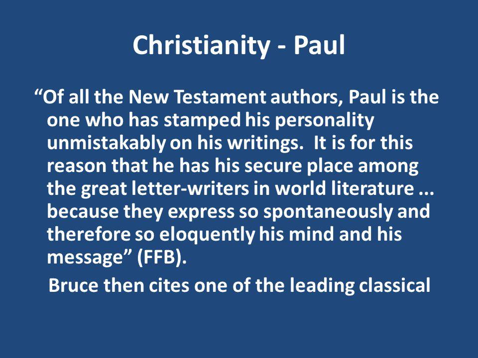 Christianity - Paul