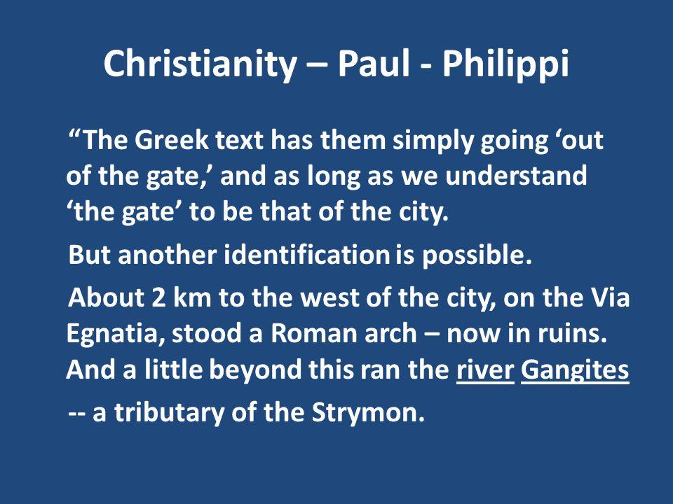 Christianity – Paul - Philippi