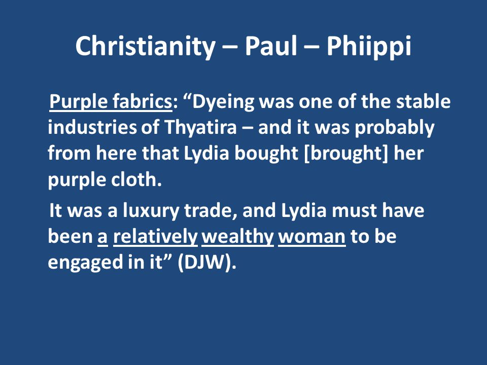 Christianity – Paul – Phiippi