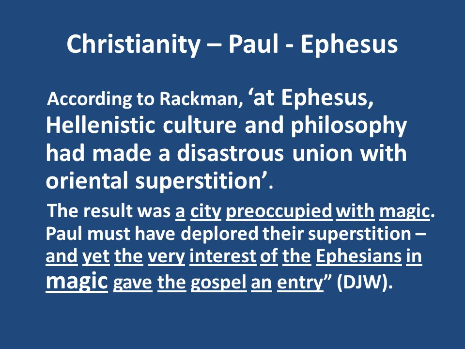 Christianity – Paul - Ephesus