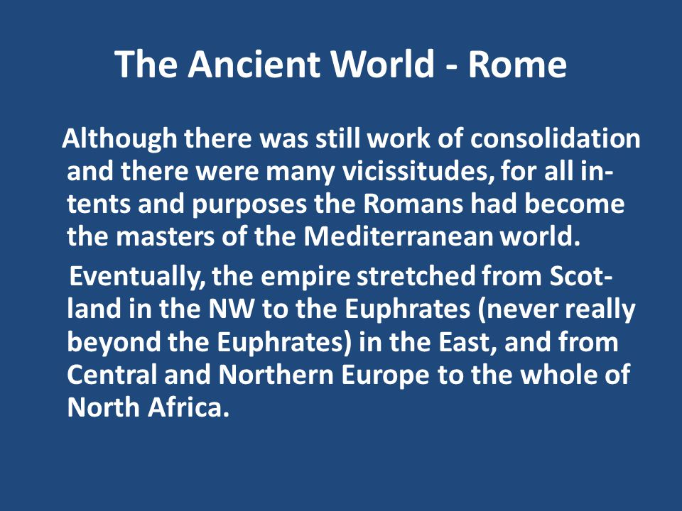 The Ancient World - Rome