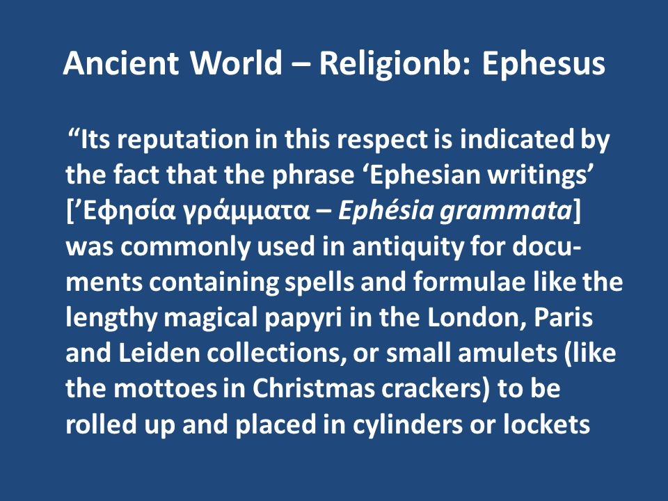 Ancient World – Religionb: Ephesus