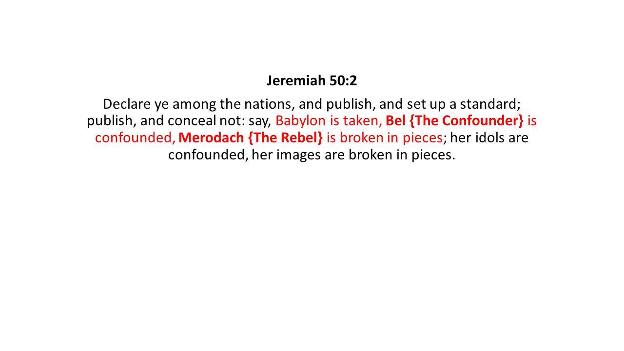 Jeremiah 50:2