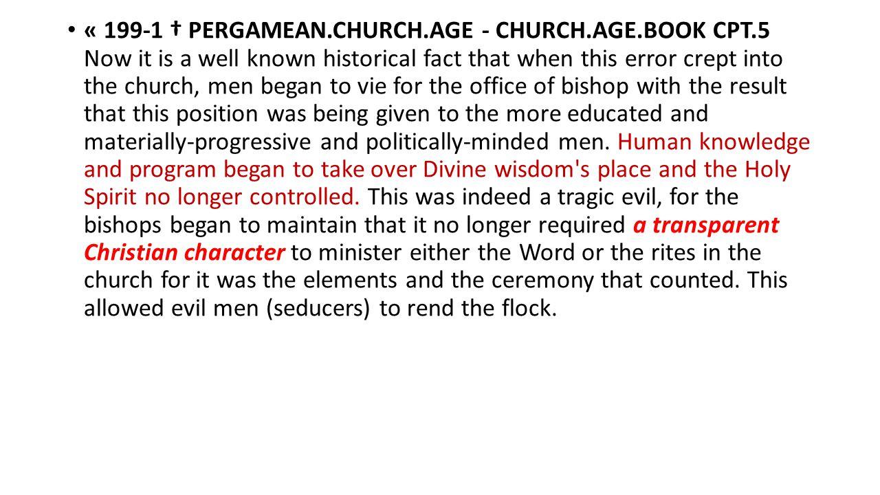 « 199-1 † PERGAMEAN. CHURCH. AGE - CHURCH. AGE. BOOK CPT