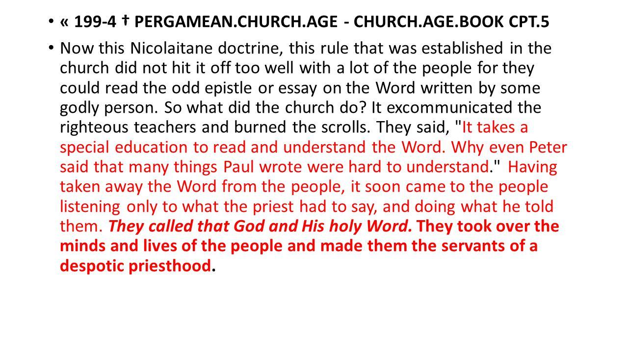 « 199-4 † PERGAMEAN.CHURCH.AGE - CHURCH.AGE.BOOK CPT.5