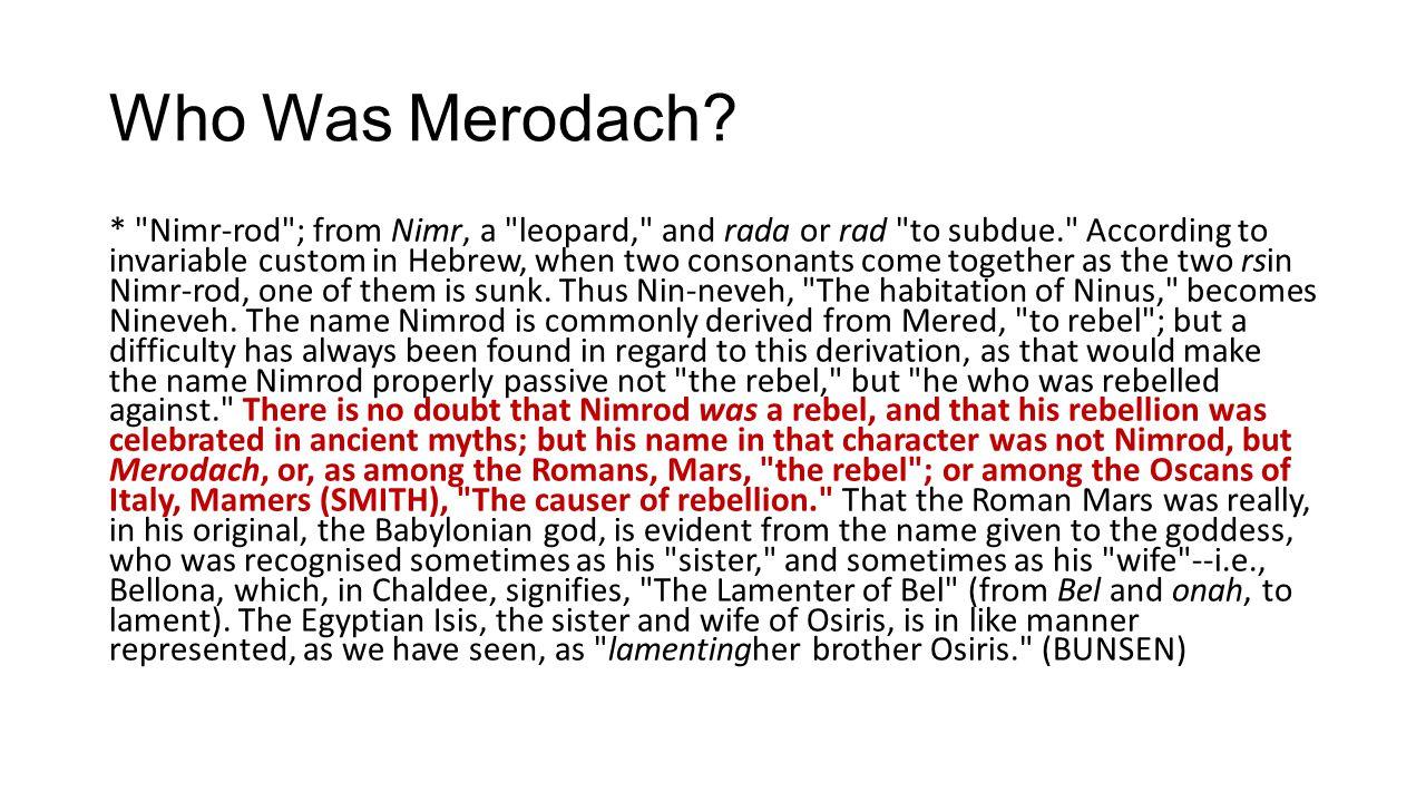 Who Was Merodach