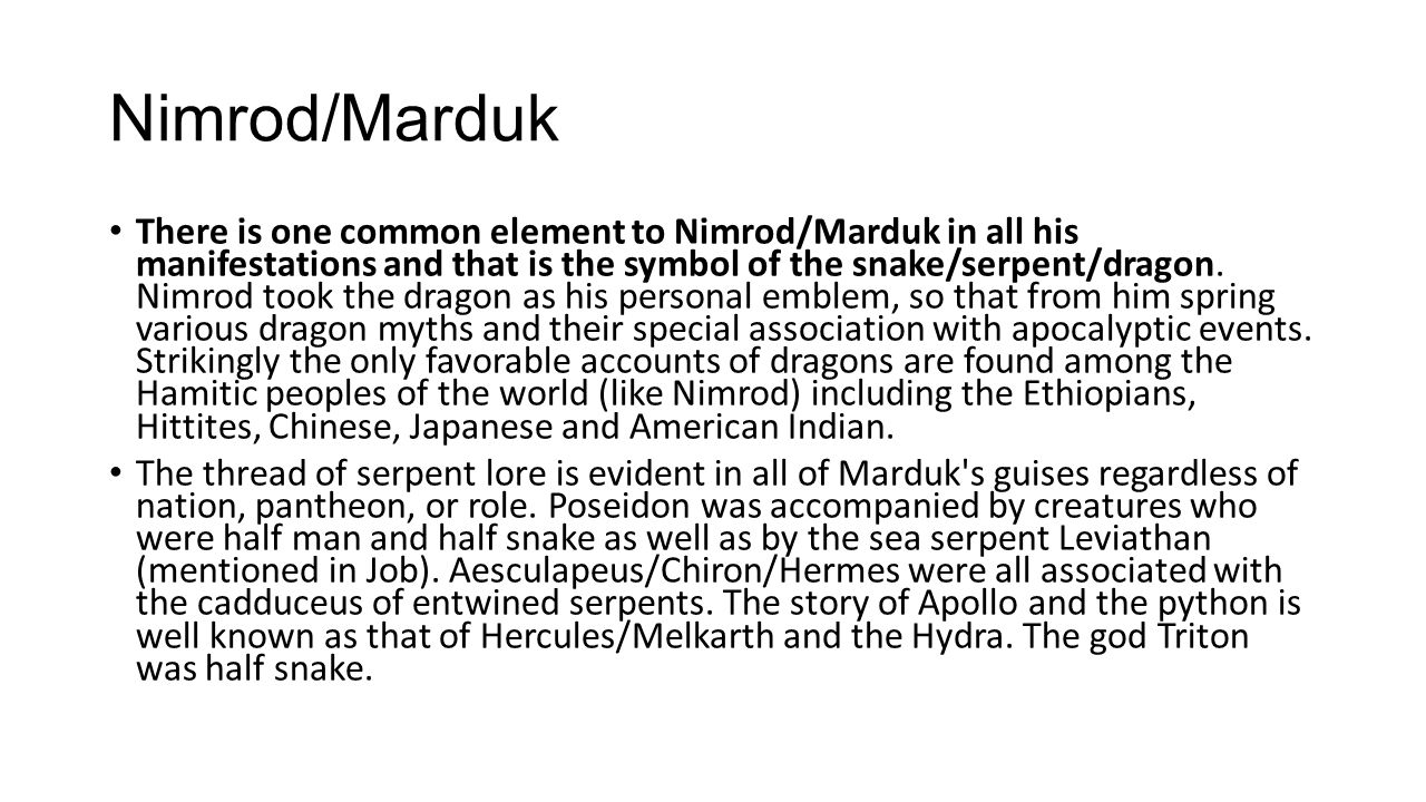 Nimrod/Marduk