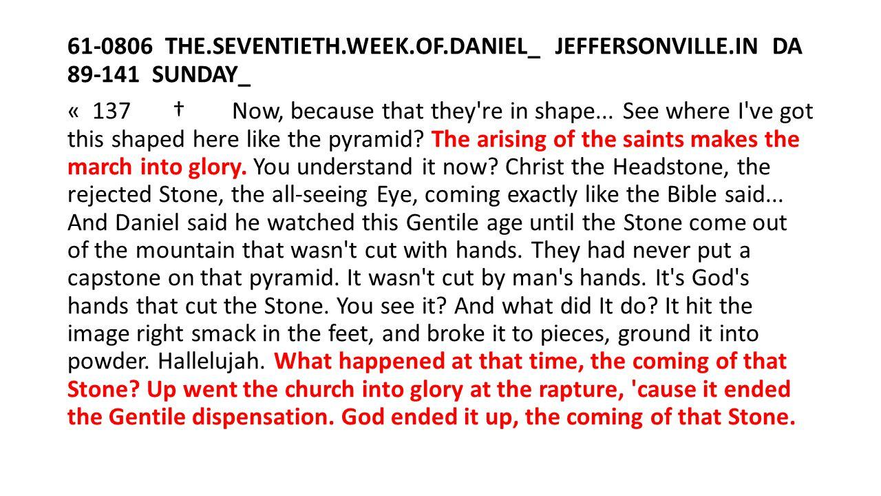 61-0806 THE. SEVENTIETH. WEEK. OF. DANIEL_ JEFFERSONVILLE