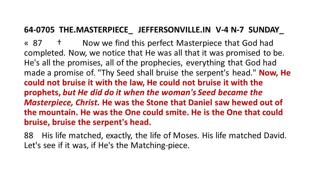64-0705 THE. MASTERPIECE_ JEFFERSONVILLE