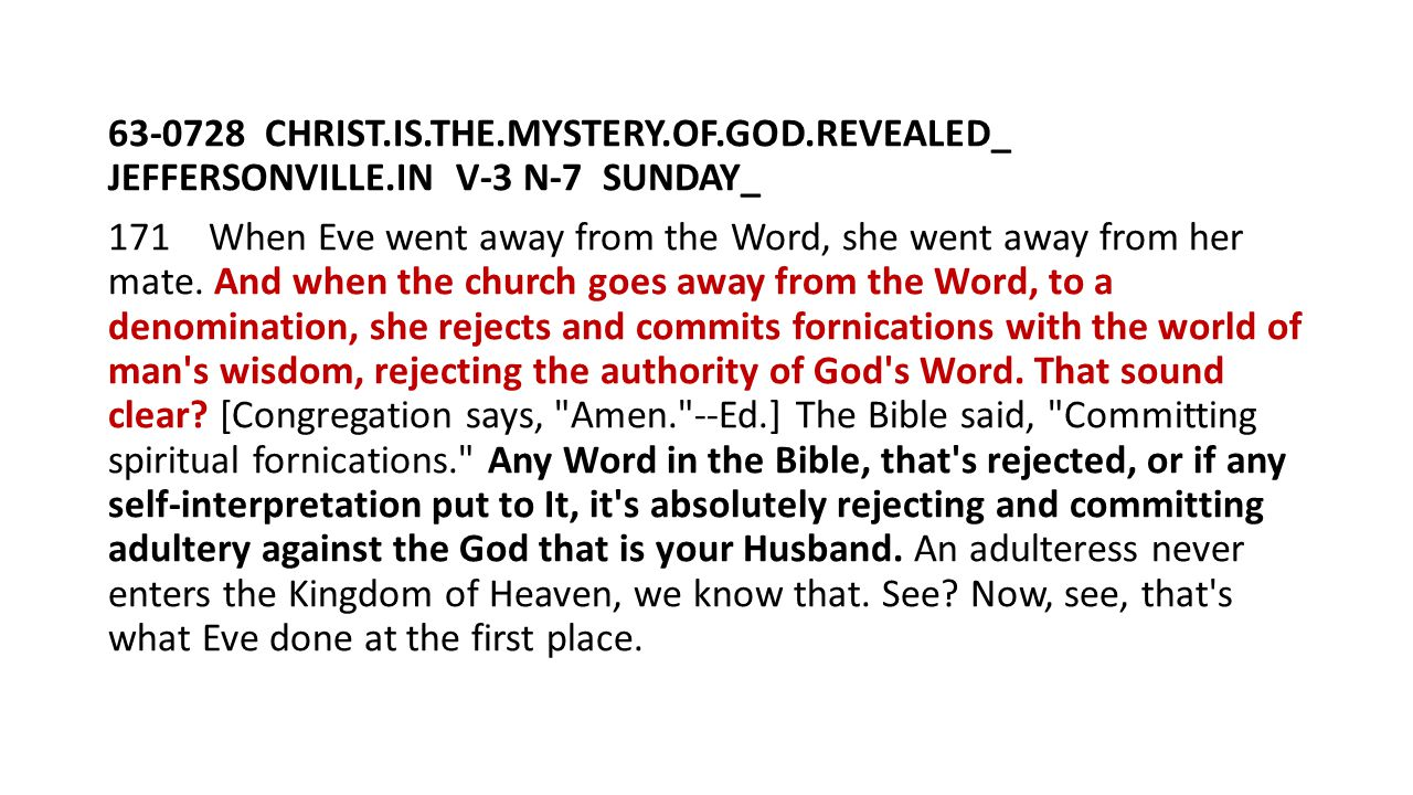 63-0728 CHRIST. IS. THE. MYSTERY. OF. GOD. REVEALED_ JEFFERSONVILLE