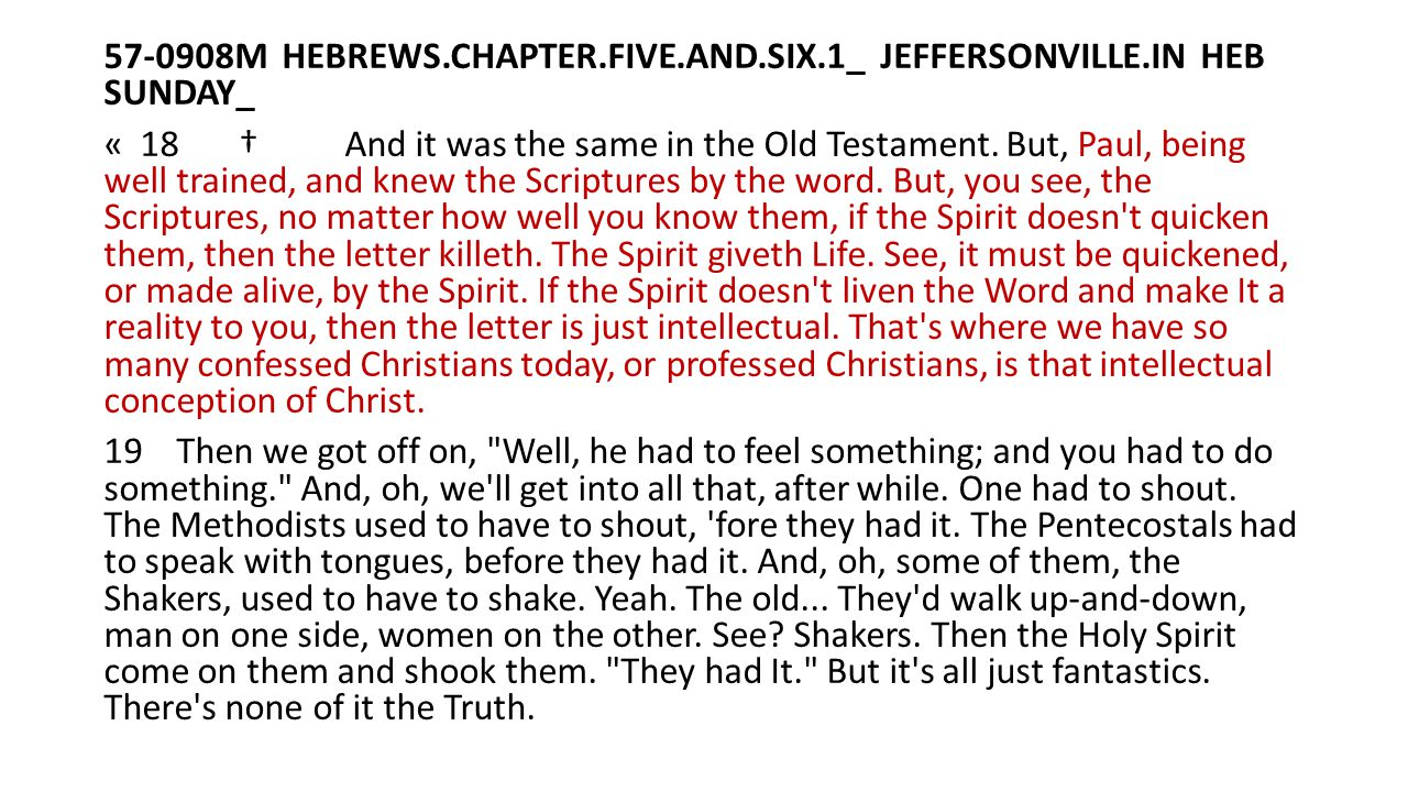 57-0908M HEBREWS. CHAPTER. FIVE. AND. SIX. 1_ JEFFERSONVILLE