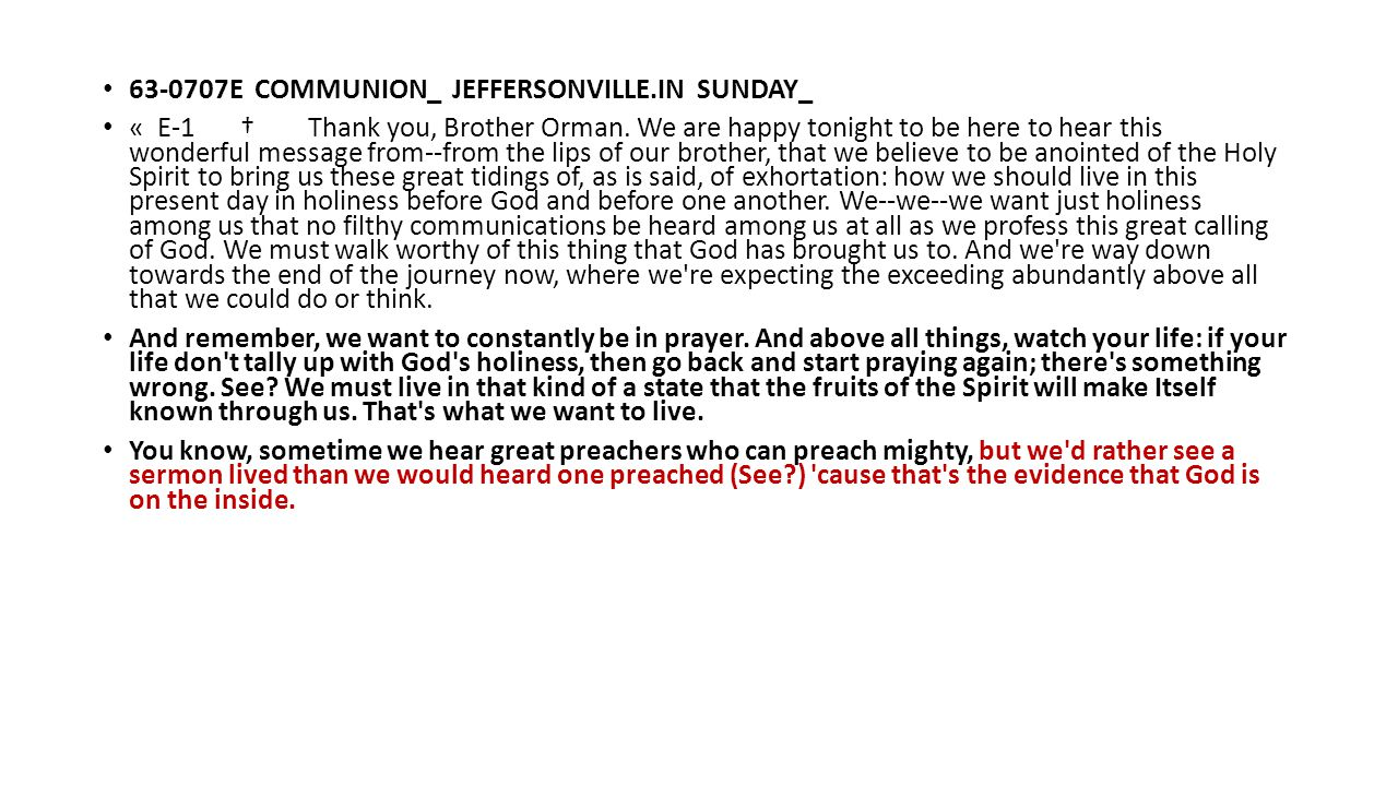 63-0707E COMMUNION_ JEFFERSONVILLE.IN SUNDAY_