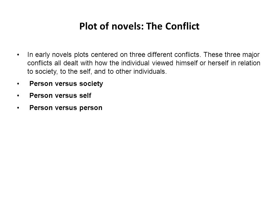 Plot of novels: The Conflict