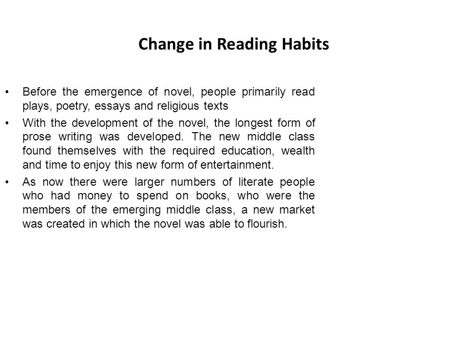 Change in Reading Habits