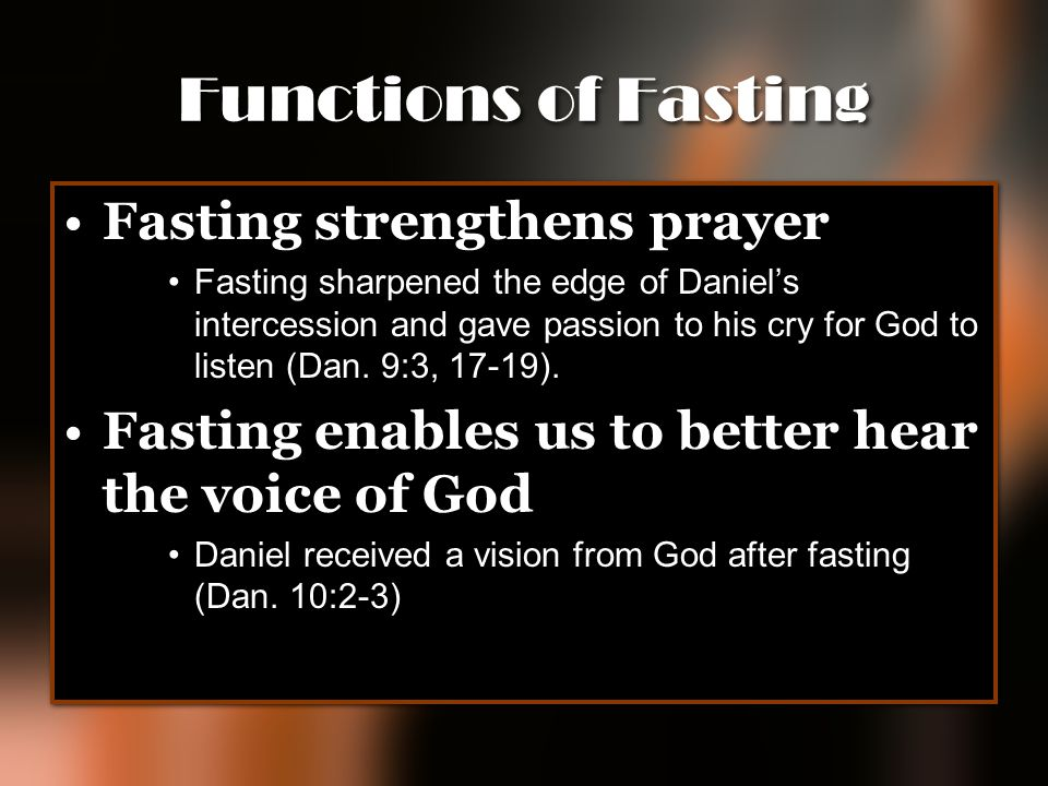 Functions of Fasting Fasting strengthens prayer