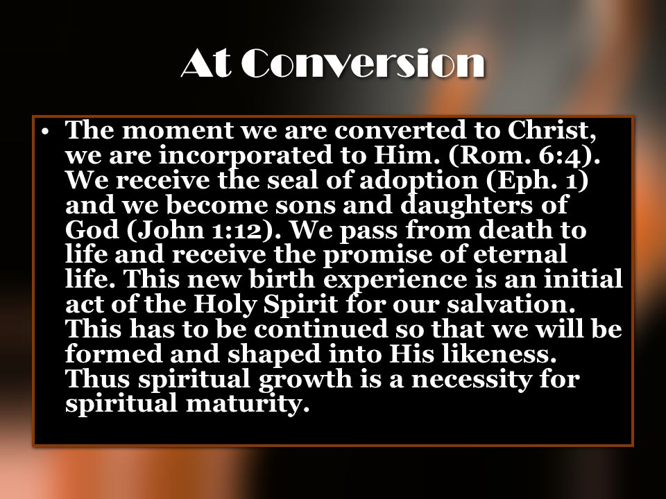 At Conversion