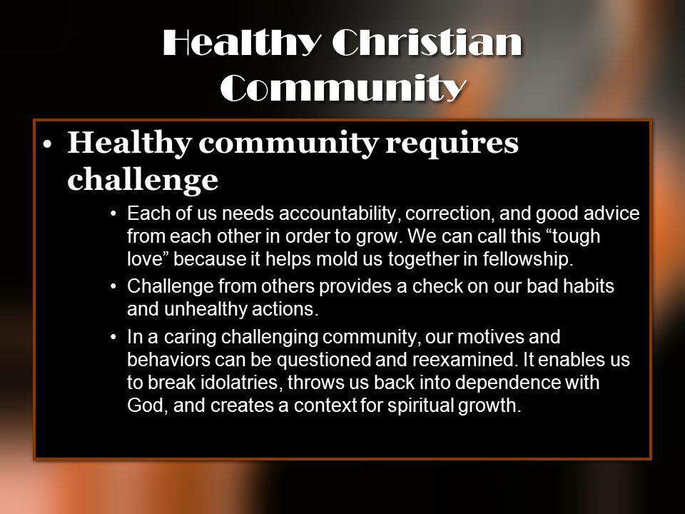 Healthy Christian Community