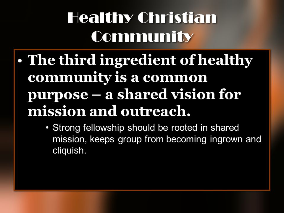 Healthy Christian Community