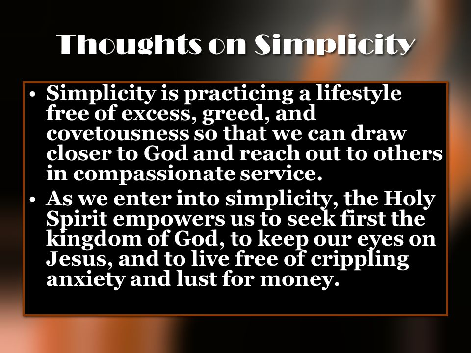 Thoughts on Simplicity