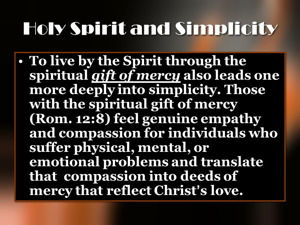Holy Spirit and Simplicity