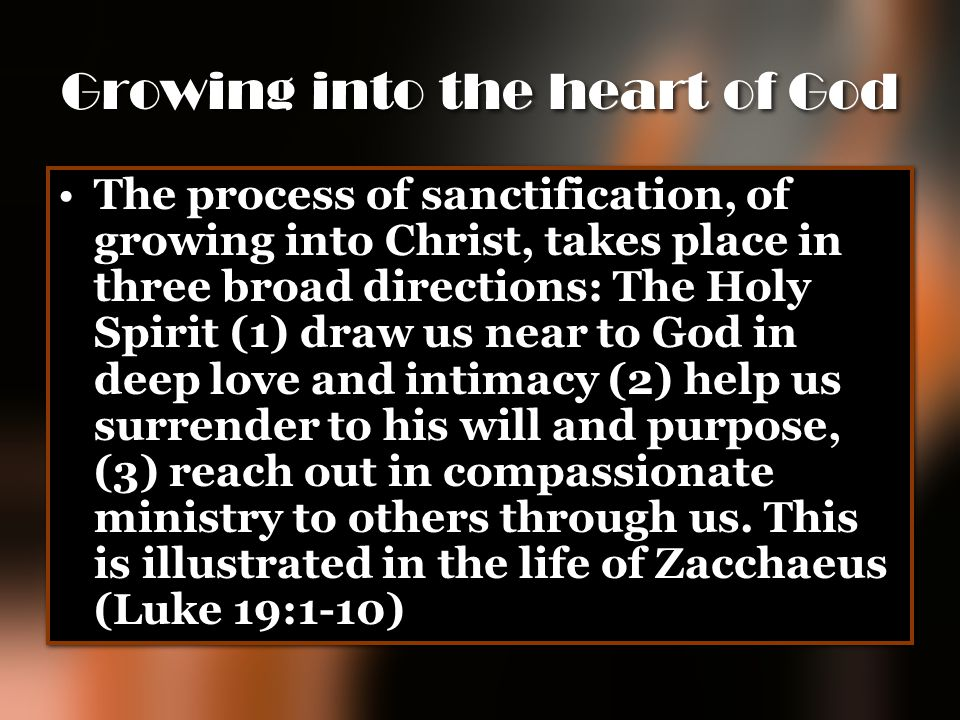 Growing into the heart of God