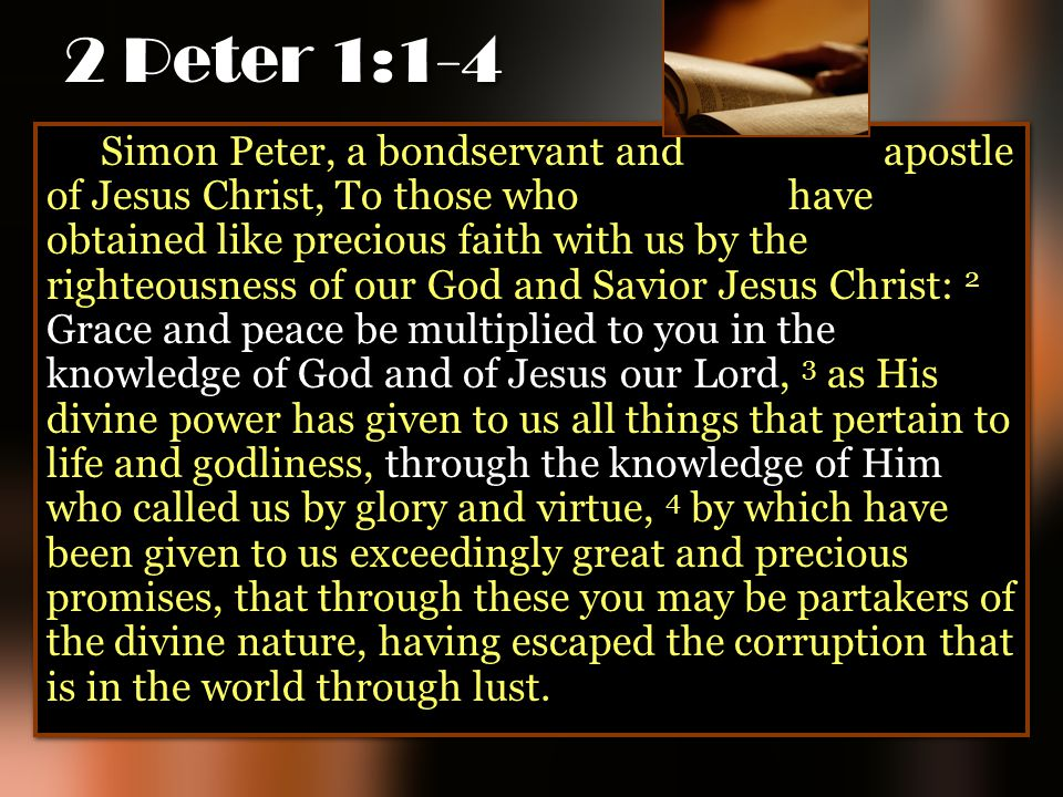 2 Peter 1:1-4