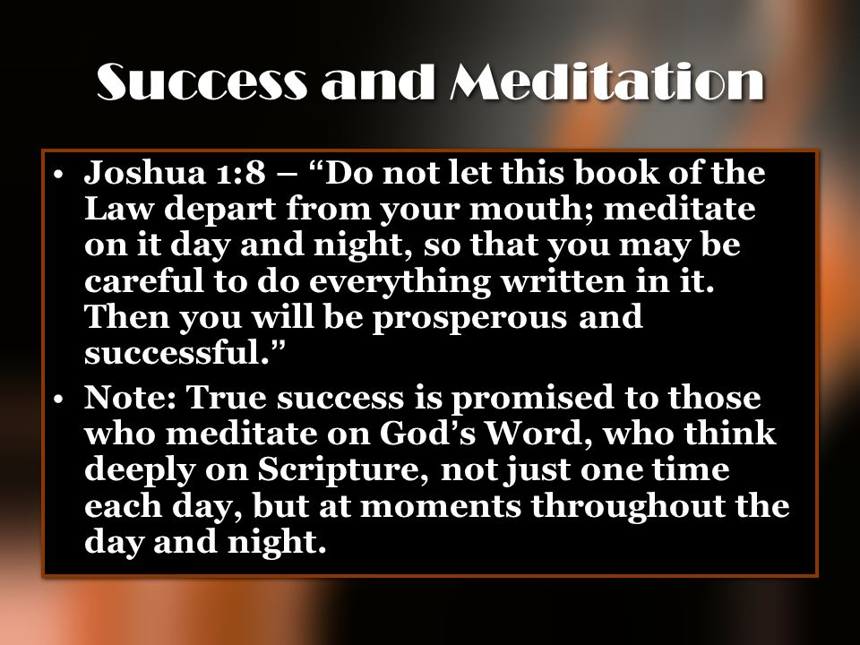 Success and Meditation