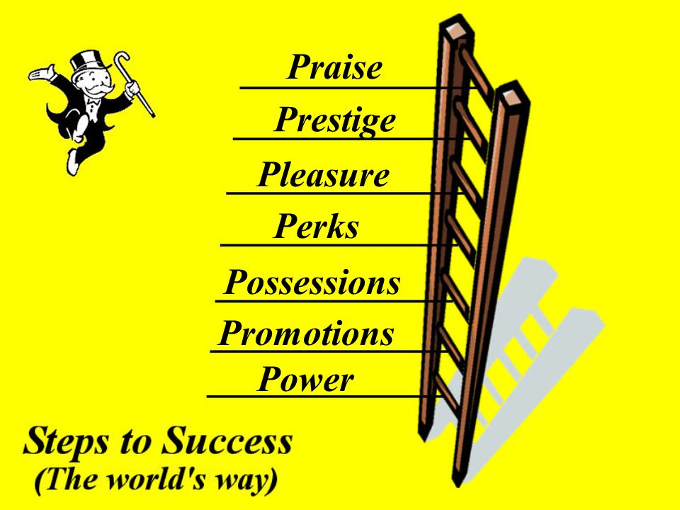Praise Prestige Pleasure Perks Possessions Promotions Power