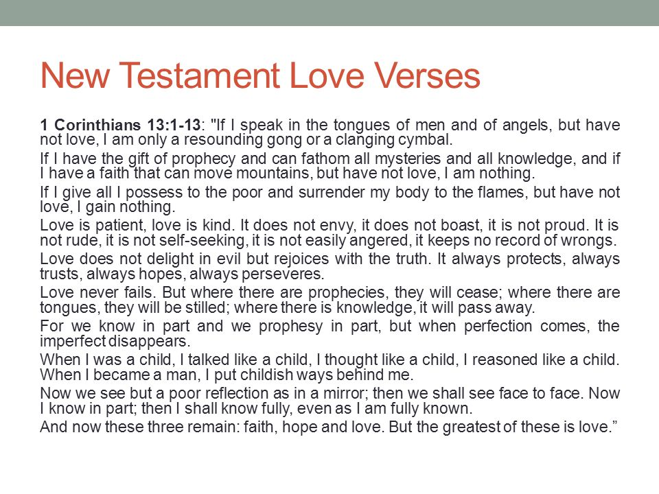 New Testament Love Verses