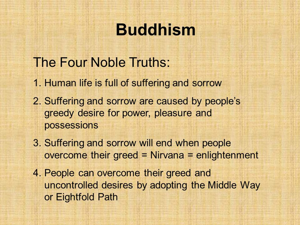 Buddhism The Four Noble Truths: