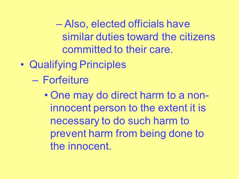 Also, elected officials have similar duties toward the citizens committed to their care.