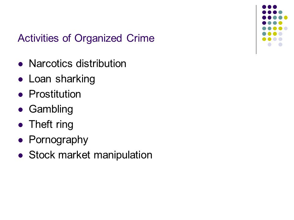 Activities of Organized Crime