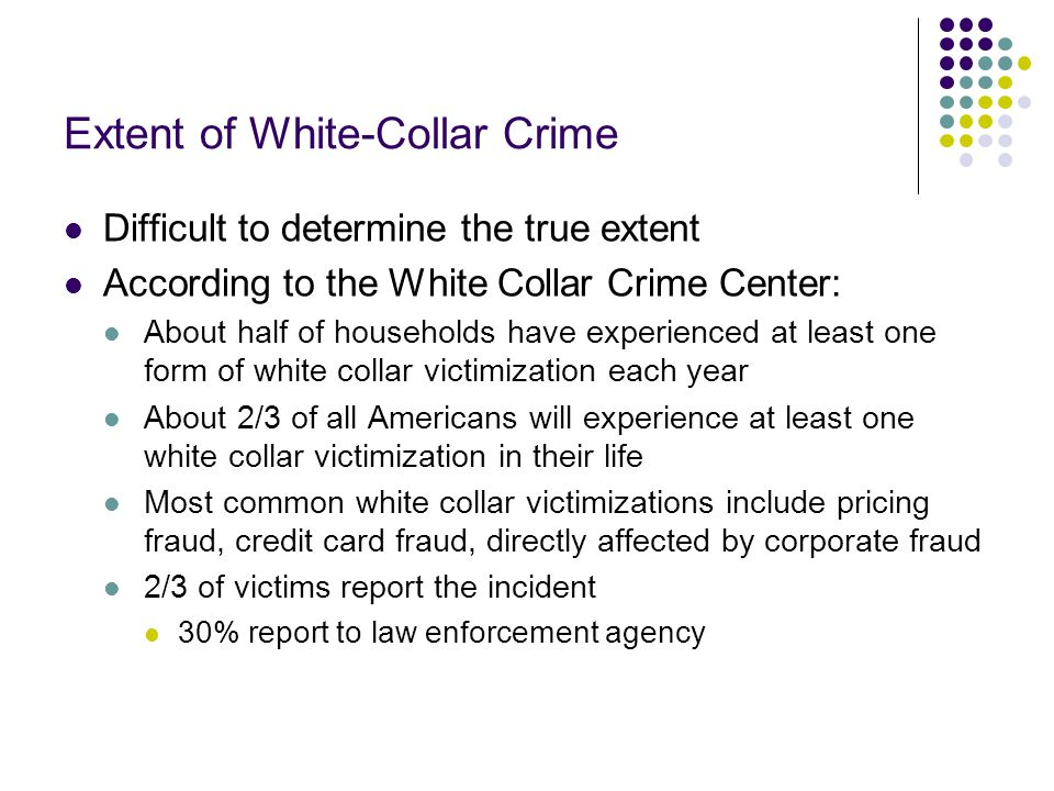 Extent of White-Collar Crime